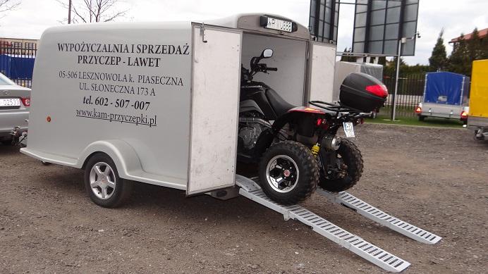 """Przyczepa """"QUAD"""" HERMETYCZNA-SZCZELNA"""